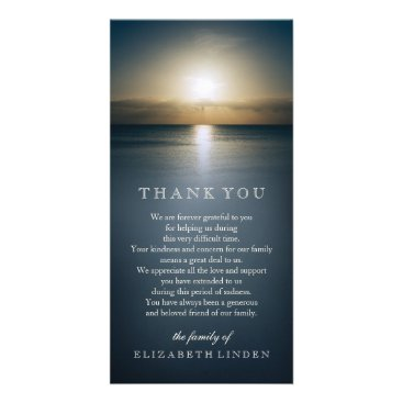 EventfulDays Sun Over the Ocean | Sympathy Thank You Card