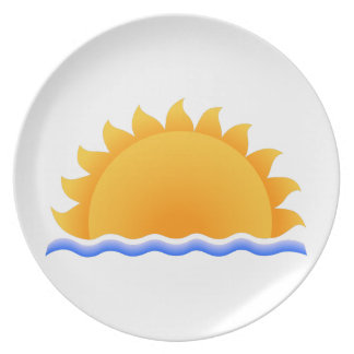 Sun Over Water Party Plate
