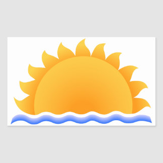 Sun Over Water Rectangular Sticker