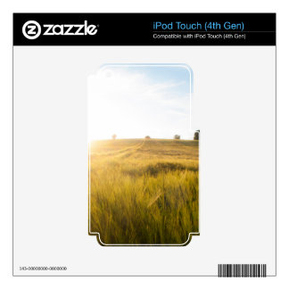 Sun over wheatfield iPod touch 4G decals