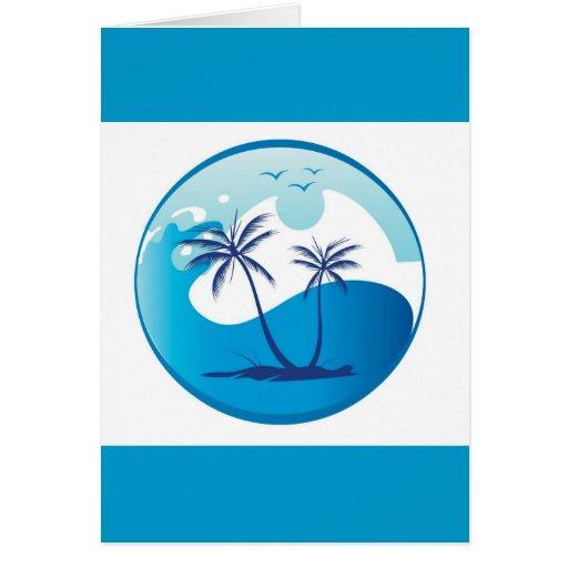 sun-palm-tree-vector-2 greeting card