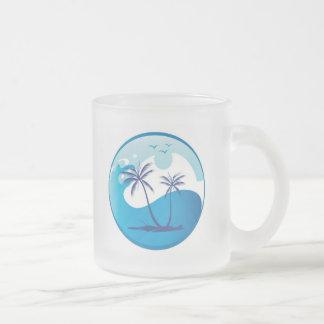 sun-palm-tree-vector-2 taza de cristal