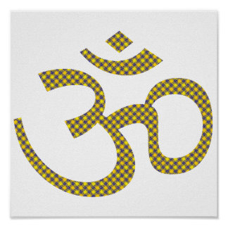 Sun patterened Om or Aum ॐ.png Posters
