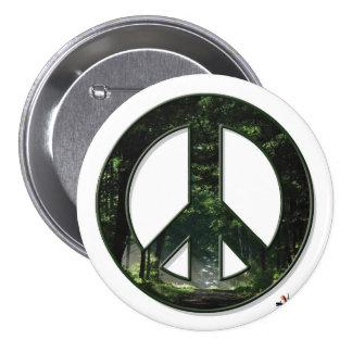 Sun Peace Button