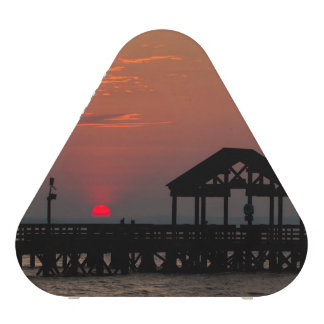 Sun Peeking over Pier 2 Bluetooth Speaker