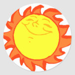 Sun Pegatina Redonda