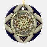 Sun Personalized Round Ornament
