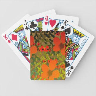 Sun Petals Bicycle Playing Cards