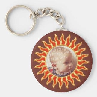 Sun Photo Frame Basic Round Button Keychain