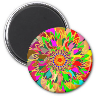 SUN Planet CHAKRA Art:  Source of Life on Earth 2 Inch Round Magnet