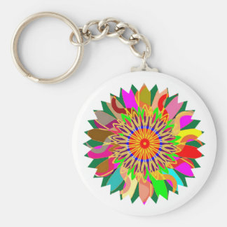 SUN Planet CHAKRA Art:  Source of Life on Earth Basic Round Button Keychain