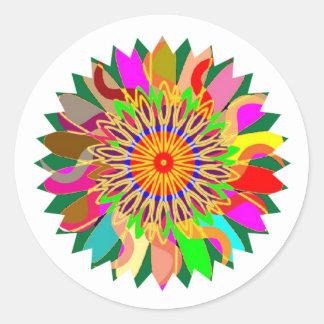 SUN Planet CHAKRA Art:  Source of Life on Earth Classic Round Sticker