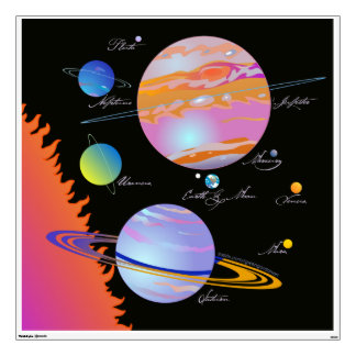 Sun+Planets Wall Decal
