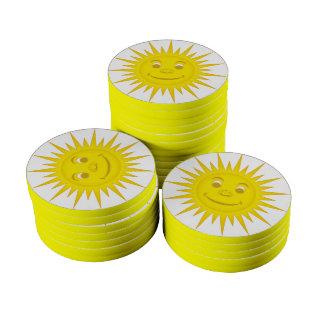 Sun Poker Chips Set