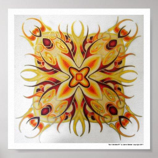 """Sun poster de la mandala #1"" de Aaron Brader"