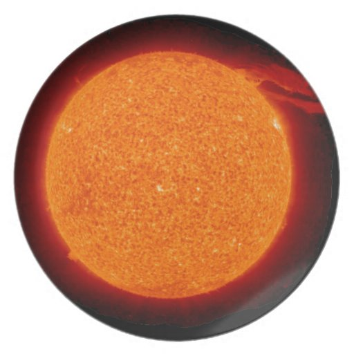 Sun Prominence Party Plates