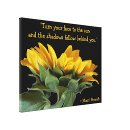 Sun Proverb on wrapped canvas