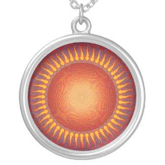 Sun psicodélico Arte abstracto Collar