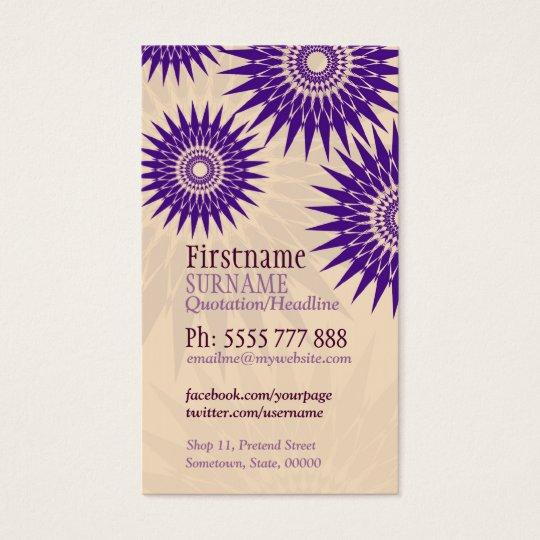 Sun Purple Rosea w/ Logo Business Card