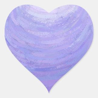 Sun púrpura pegatina en forma de corazón