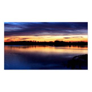 Sun putting in the lagoon of the Dew Doñana