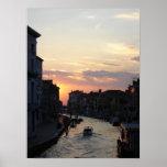Sun que entra abajo en Venecia Impresiones