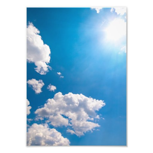 Sun Ray Burst From Behind A Cloud Photo Print