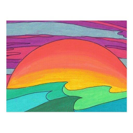 Sun rayó el cielo postal