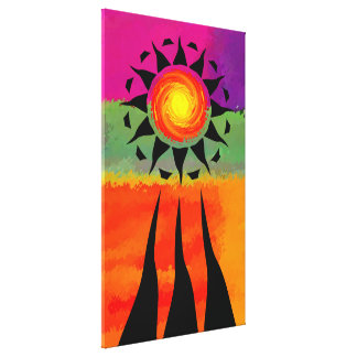 Sun Rays and Elements Canvas Print