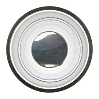Sun Rays Kiss the sky over the mountains & stream Pet Bowl