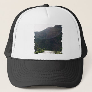 Sun Rays Kiss the sky over the mountains & stream Trucker Hat