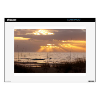 "Sun Rays Ocean Sunset Decal For 15"" Laptop"