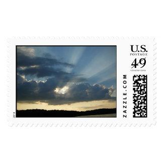 Sun Rays Postage Stamp