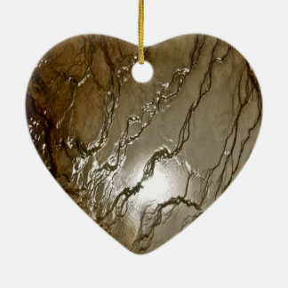 SUN REFLECTING IN A VOLCANIC THERMAL POOL CERAMIC ORNAMENT