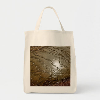 SUN REFLECTING IN A VOLCANIC THERMAL POOL TOTE BAG
