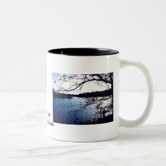 Sun reflections on Black Lake Mug