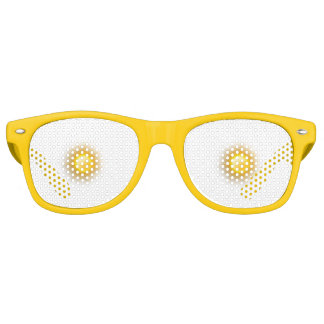 Sun Retro Party Shades, Yellow Retro Sunglasses