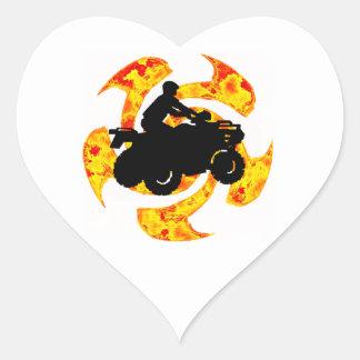 SUN RIDE ATV HEART STICKER