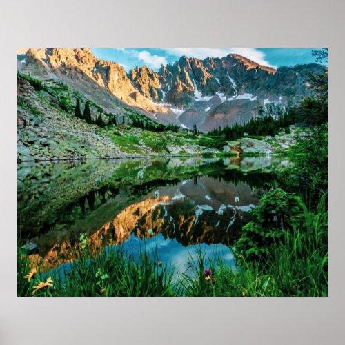 Sun Ridge Lake Reflection // Wild Flowers