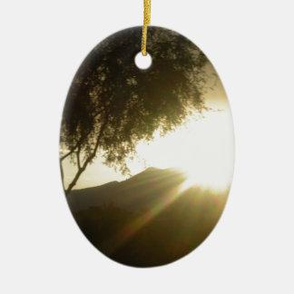 Sun Rise Ceramic Ornament