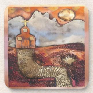 Sun Rise Church By Sheri Kerr Beverage Coasters