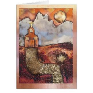 Sun Rise Church By Sheri Kerr Greeting Card
