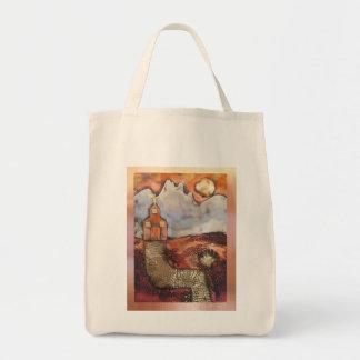 Sun Rise Church By Sheri Kerr Grocery Tote Bag