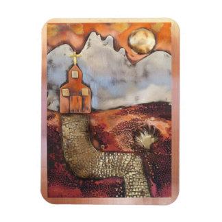 Sun Rise Church By Sheri Kerr Magnet