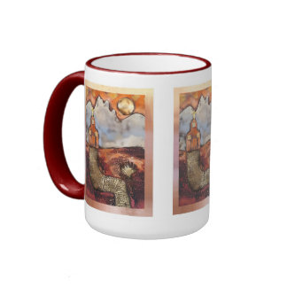 Sun Rise Church By Sheri Kerr Ringer Coffee Mug