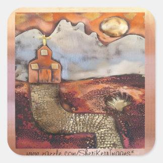 Sun Rise Church By Sheri Kerr Square Sticker