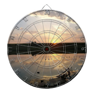 Sun Rise Dartboard With Darts