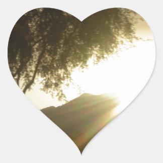 Sun Rise Heart Sticker