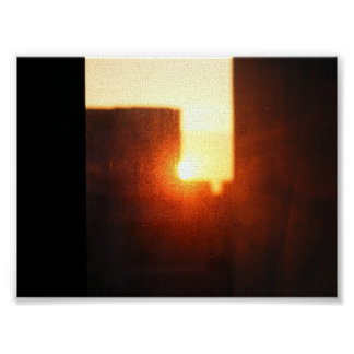 sun rise in a high rise poster