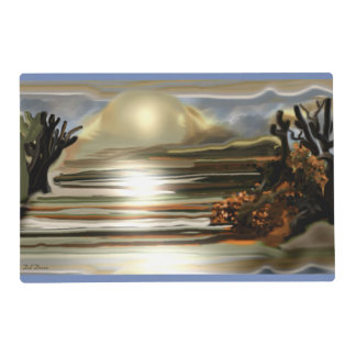 Sun Rise On the Desert Southwestern Abstract Art Placemat